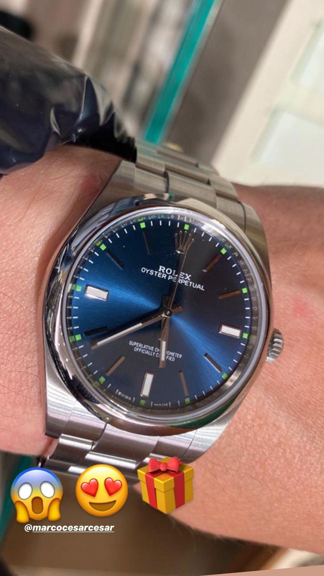 Pai de Maiara e Maraisa ganhou relógio de Fernando (Foto: Reprodução/Instagram)