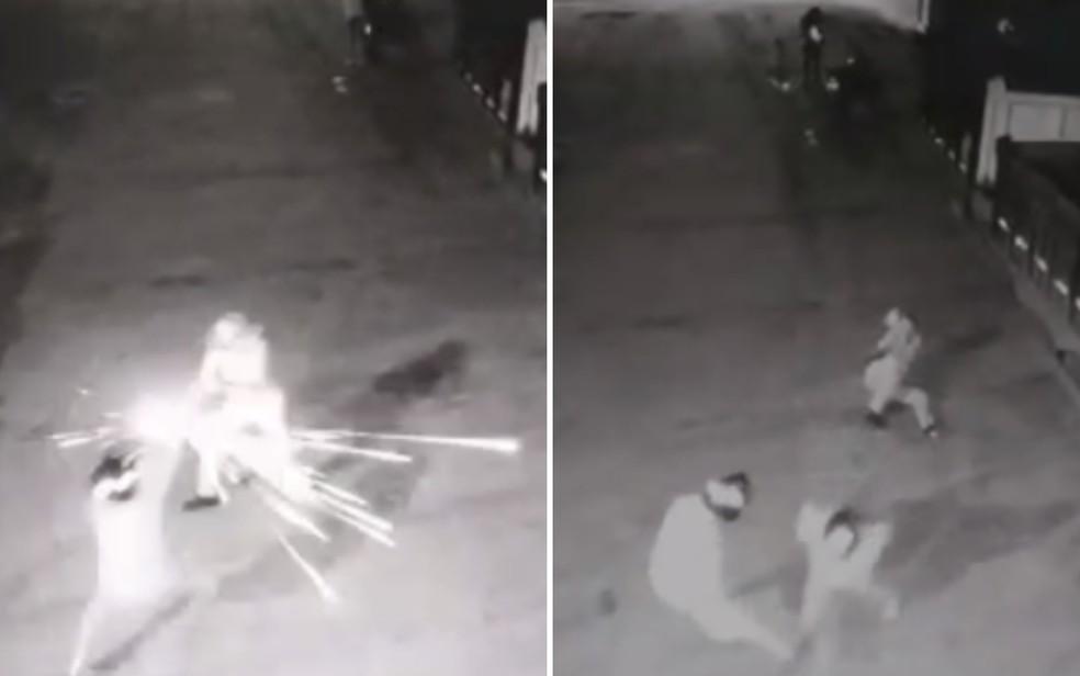 Vigilante de 76 anos mata um suspeito, atira em outro e impede furto em Jataí, Goiás — Foto: Montagem/G1