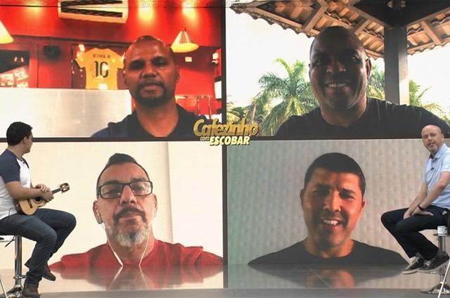 Cena do 'Cafézinho com Escobar' (Foto: TV Globo)