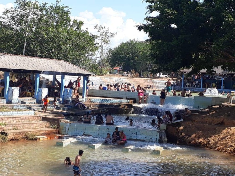 Balneário Antônio Domingos — Foto: Reprodução/Facebook