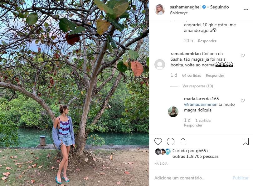 Post de Sasha (Foto: Reprodução/Instagram)