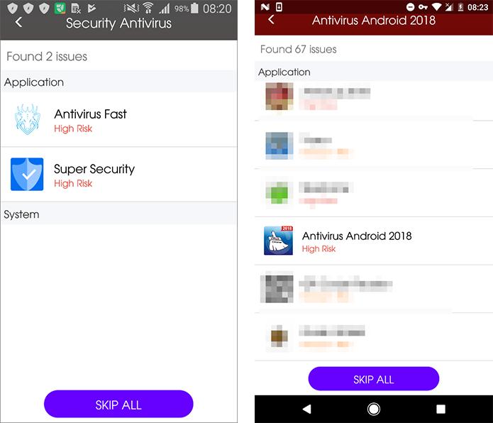 Apps de segurança falsos para Android são descobertos na