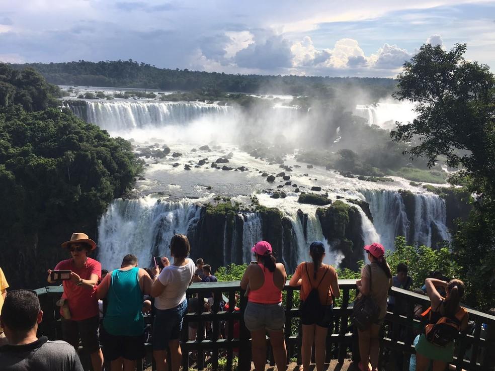 Parque Nacional do Iguaçu, em Foz do Iguaçu. (Foto: Artur Bernardi/RPC/Arquivo)