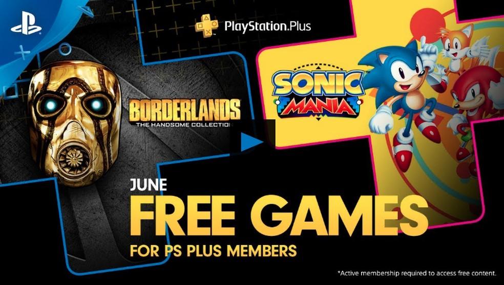 Sonic Mania e Borderlands são jogos grátis da PSN — Foto: Divulgação/Sony