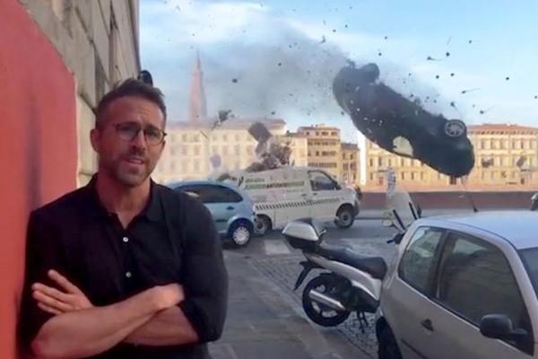 Ryan Reynolds pensou que iria morrer ao rodar cena de ação a mais de 200 km/h