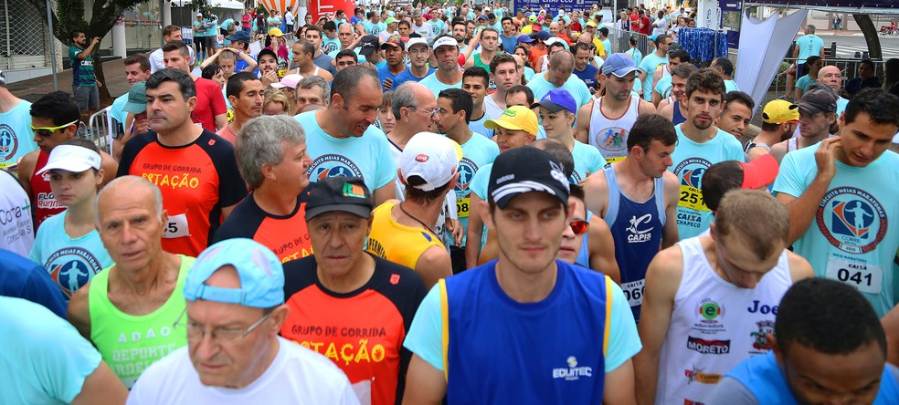 Meia Maratona Chapecó 2016 reuniu milhares de pessoas (Foto: Junior Duarte/Divulgação)