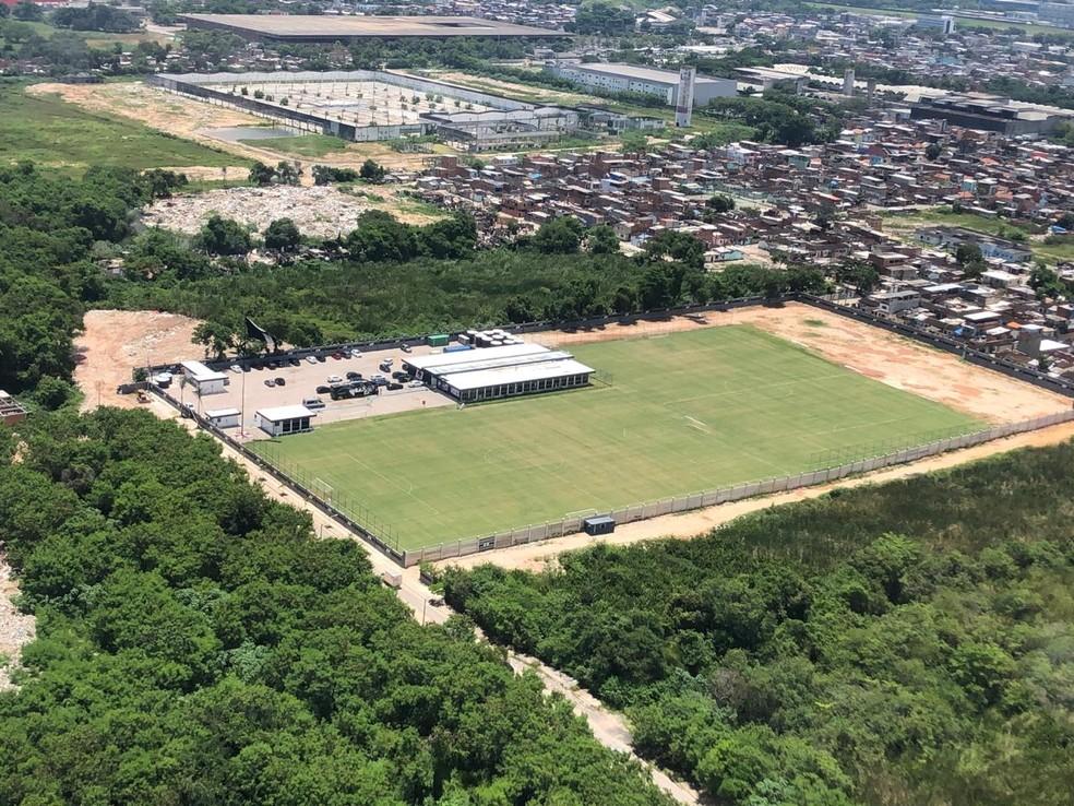 Vista aérea do CT do Vasco — Foto: Gustavo Taveira/Dovulgação