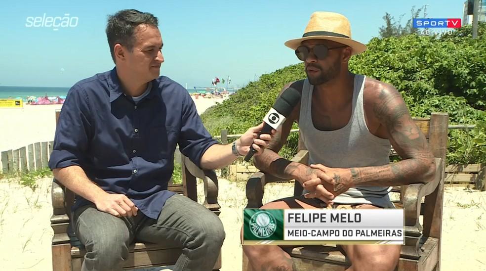 Felipe Melo, em entrevista ao Seleção SporTV — Foto: reprodução