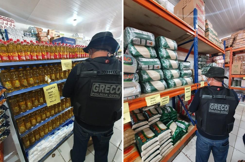 Três empresários foram presos suspeitos de comercializar produtos roubados em Teresina — Foto: Greco/ Polícia Civil