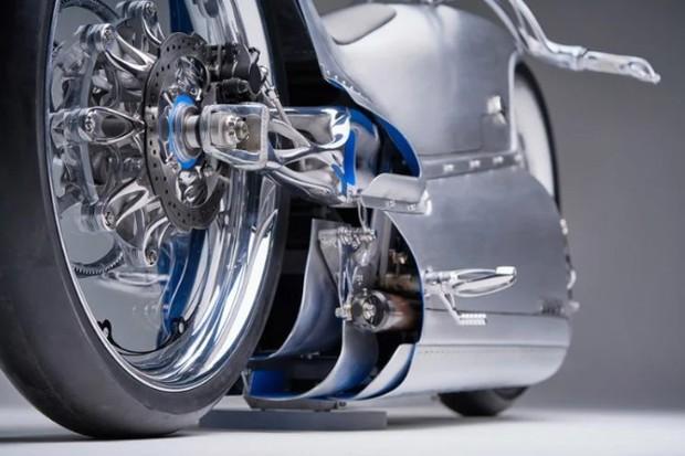 Moto elétrica futurista é feita com peças de titânio impressas em 3D (Foto: Divulgação)
