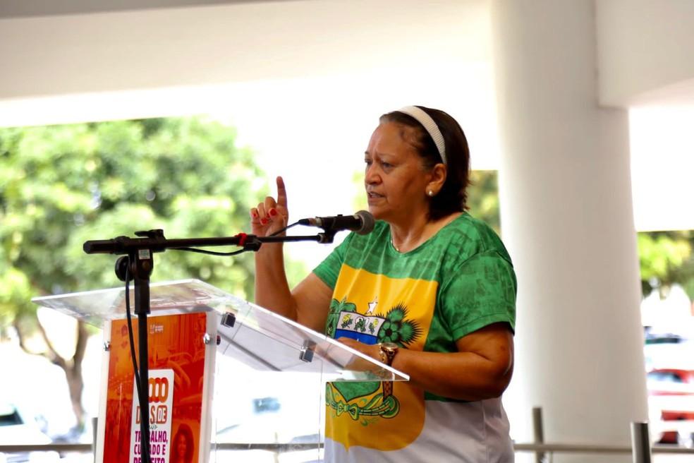 Fátima Bezerra (PT), governadora do Rio Grande do Norte, discursa em evento alusivo a mil dias de governo  — Foto: Divulgação