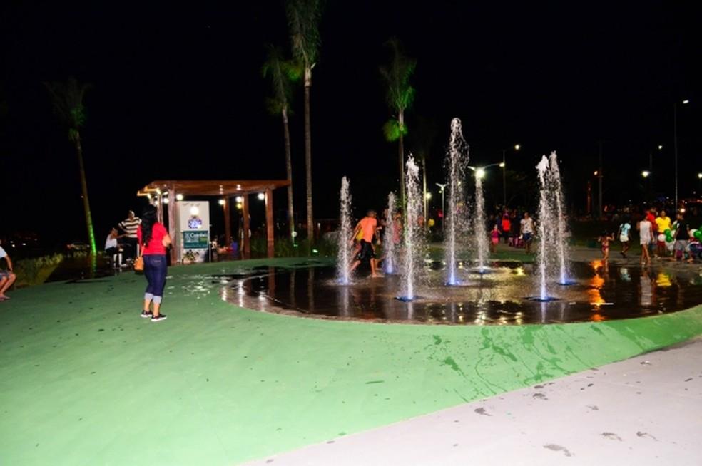 Parque foi inaugurado no mês passado, em Cuiabá — Foto: Davi Valle/Prefeitura de Cuiabá
