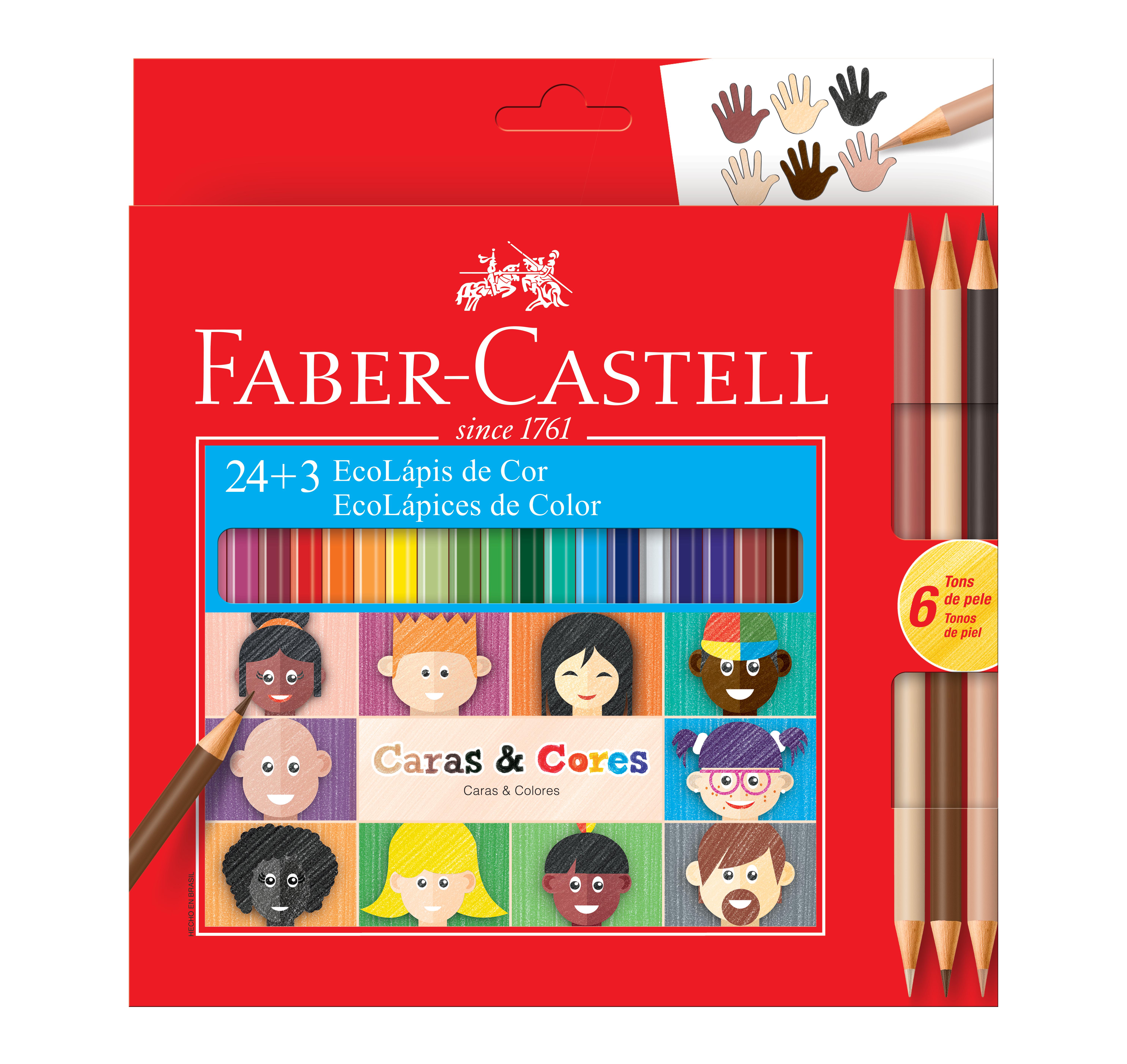 Lápis Caras & Cores em caixa de 24 cores da Ecolápis (Foto: Faber Castell/Divulgação)