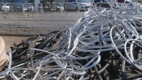 Operação da Polícia Civil prende cinco pessoas suspeitas de comercializar fios e cabos furtados