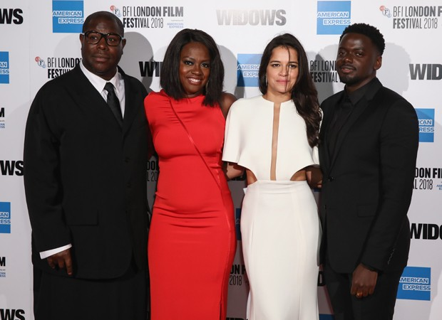 Steve Mcqueen, Viola Davis, Michelle Rodriguez e Daniel Kaluuya (Foto: Getty Images)