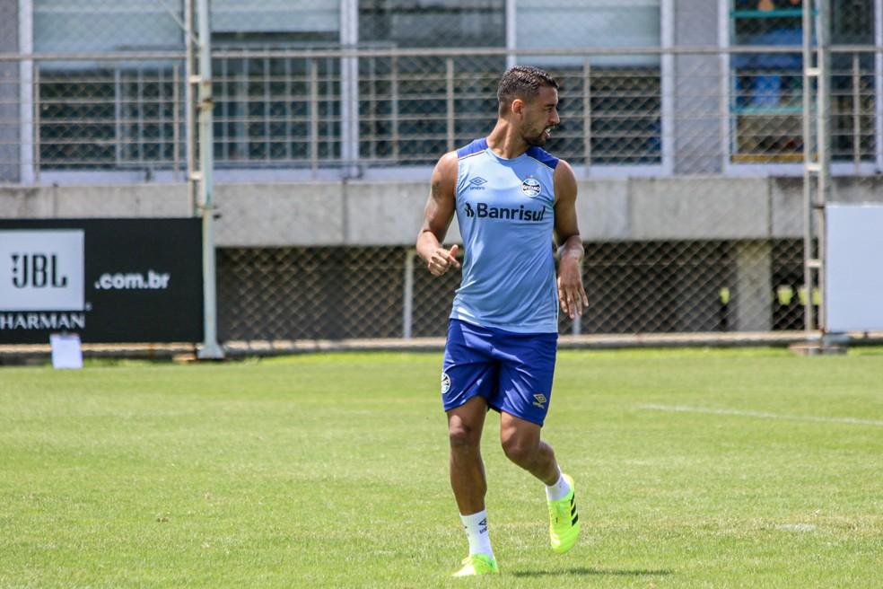 treino Grêmio Michel — Foto: Lucas Bubols/GloboEsporte.com