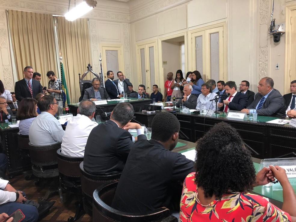 CPI dos Incêndios na Alerj teve presença de vários dirigentes e ex-dirigentes do Flamengo — Foto: Caíque Andrade
