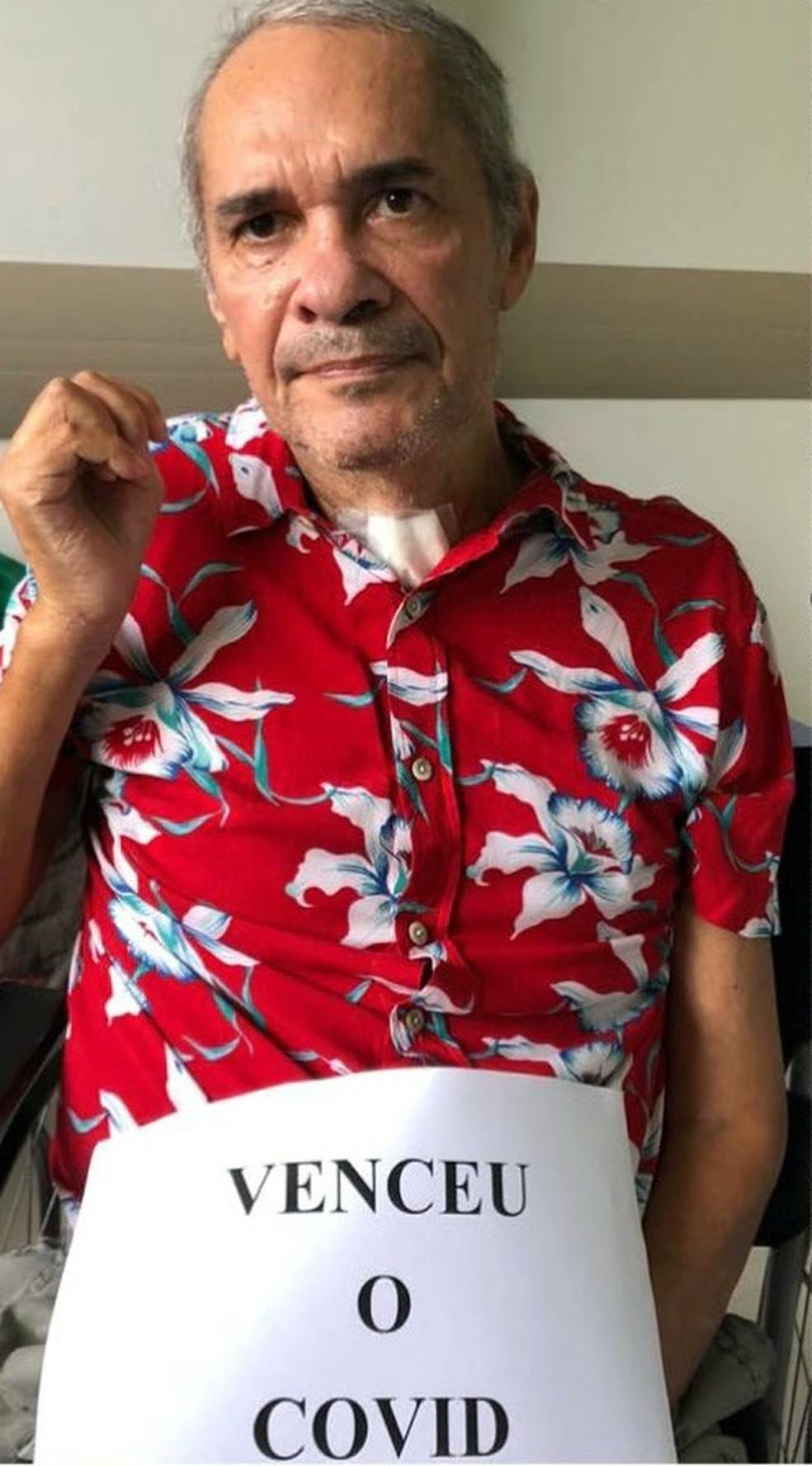 José Lourival Tavares, de 62 anos, foi mais um paciente maranhense que recebeu alta após ser curado da Covid-19. — Foto: Reprodução/TV Mirante