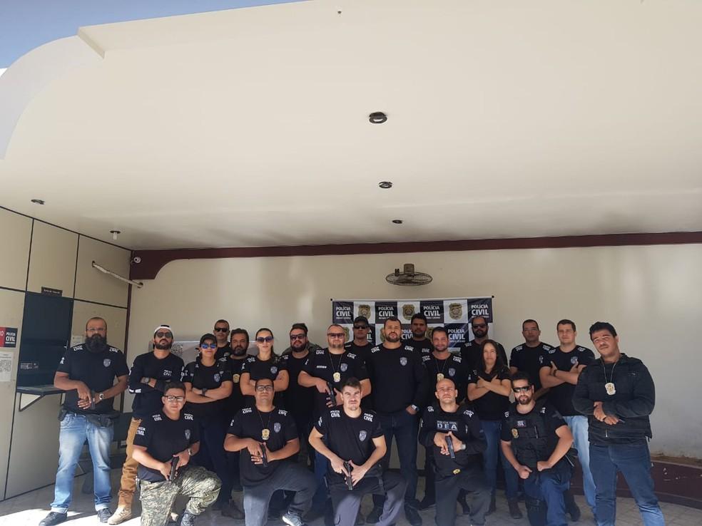 Mandados foram cumpridos na manhã desta quarta-feira — Foto: Polícia Civil/Divulgação