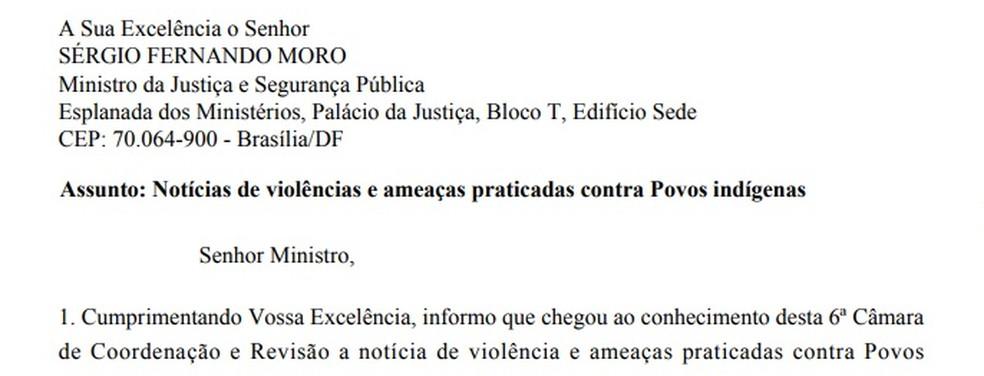 MPF oficializou o caso ao Ministério da Justiça.  — Foto: Divulgação/MPF