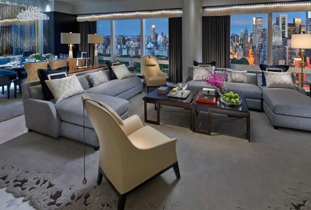 Suíte 5000, do Hotel Mandarin Oriental, em Nova York (Foto: Reprodução)