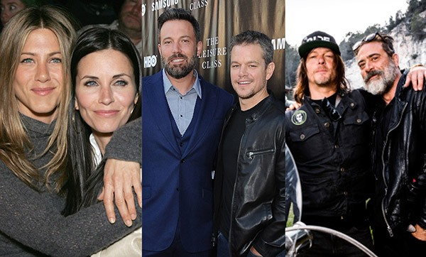 Jennifer Aniston, Courteney Cox, Ben Affleck, Matt Damon, Norman Reedus e Jeffrey Dean Morgan (Foto: Getty Images / Divulgação)