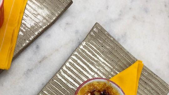 Crème Brûlée de Pamonha com Paçoca
