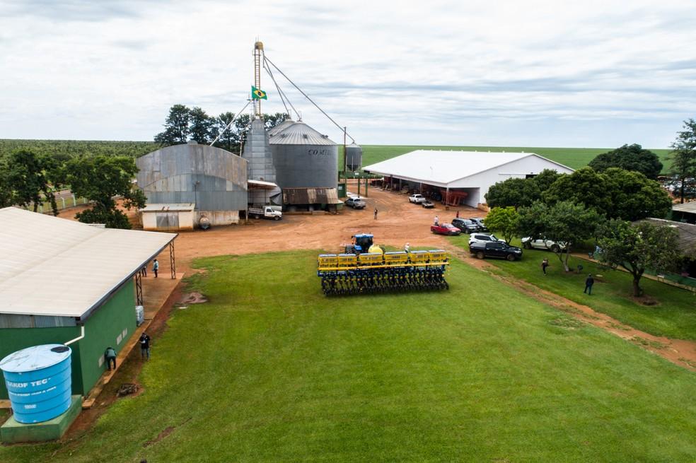 Vista geral da Fazenda Sélia, em Mineiros, sudoeste de Goiás — Foto: Eliane de Castro/Divulgação