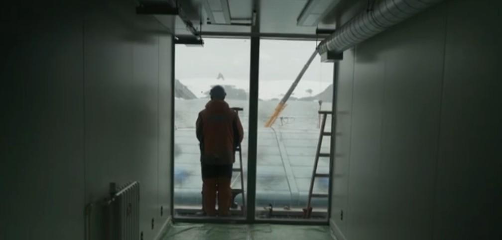 Estação Antártica Comandante Ferraz é inaugurada nesta terça (14) — Foto: Reprodução/TV Globo