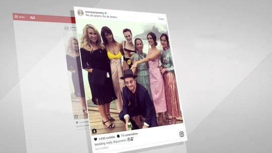 Casamento de empresário com modelo brasileira reúne famosos no Rio