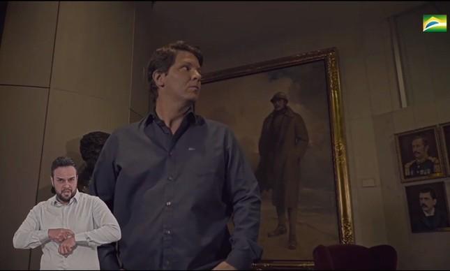 """O secretário de Cultura, Mário Frias, no vídeo sobre """"Heróis Brasileiros"""" feito pela Secom"""