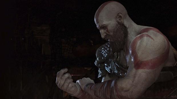 Kratos é um frankenstein: debaixo da barba está o mesmo rosto dos jogos anteriores, mas o corpo foi baseado em um ator de carne e osso e a atuação ficou a cargo de Christopher Judge, que vive o personagem pela primeira vez  (Foto: Divulgação)