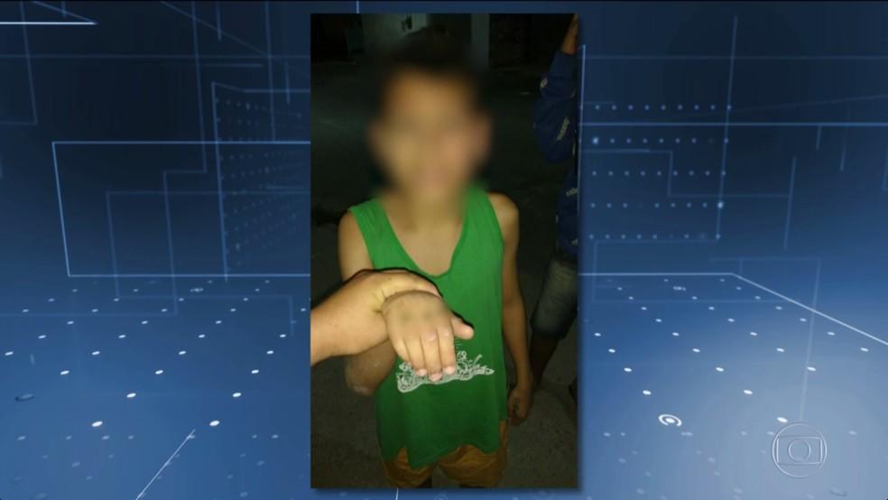 Imagem de adolescente foi divulgada antes de a criança ser assassinada (Foto: TV Globo/Reprodução)
