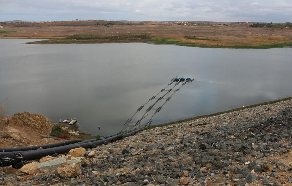 Resolução da ANA autorizou Cagepa a retirar a vazão suficiente para que órgão encerre racionamento de água na região (Foto: Artur Lira/G1/Arquivo)