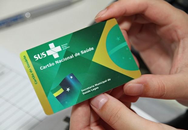 Cartão do SUS - Sistema Único de Saúde (Foto: Divulgação)