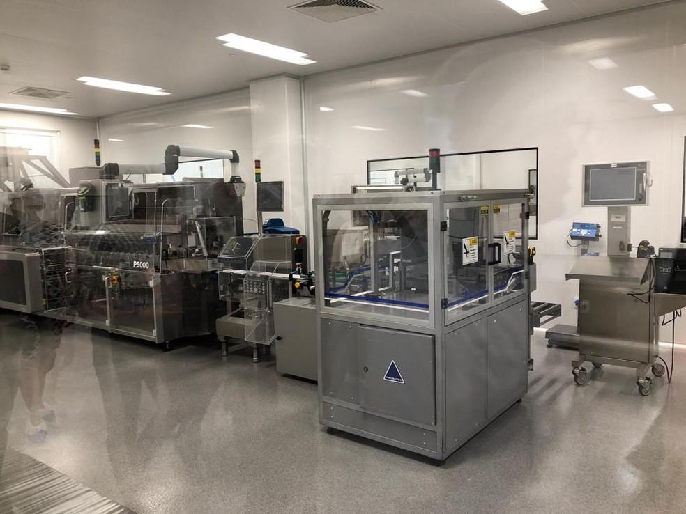 Após a inauguração da primeira fase, fábrica da Aché em Pernambuco vai embalar e distribuir medicamentos produzidos em São Paulo — Foto: Marina Meireles/G1