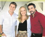 Klebber Toledo, Angélica e o Padre Fábio de Melo nos bastidores do 'Estrelas' | Deborah Montenegro