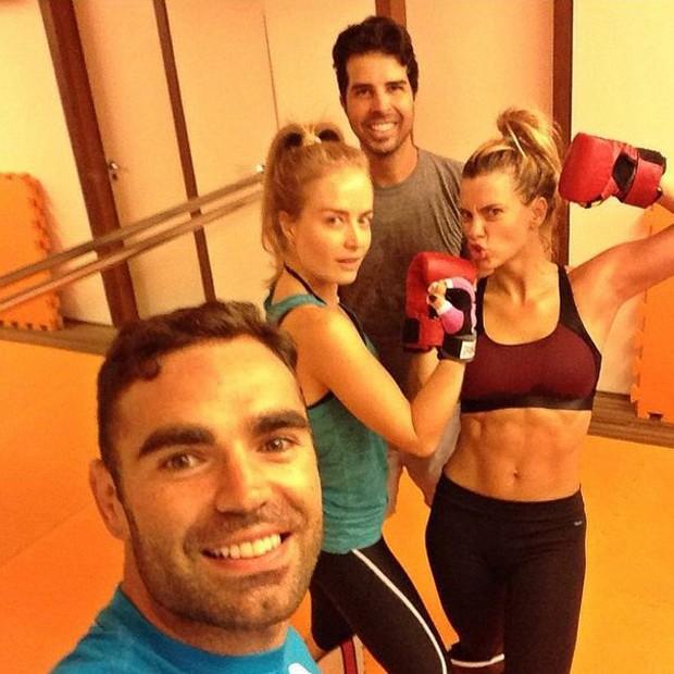 Chico Salgado, Angélica, Carol Dieckmann e Alex (Foto: Reprodução/ Instagram)