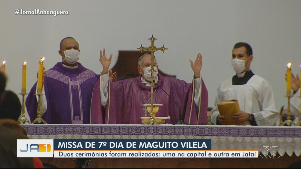 Maguito Vilela recebe homenagens em missas de 7º dia em Jataí e Goiânia