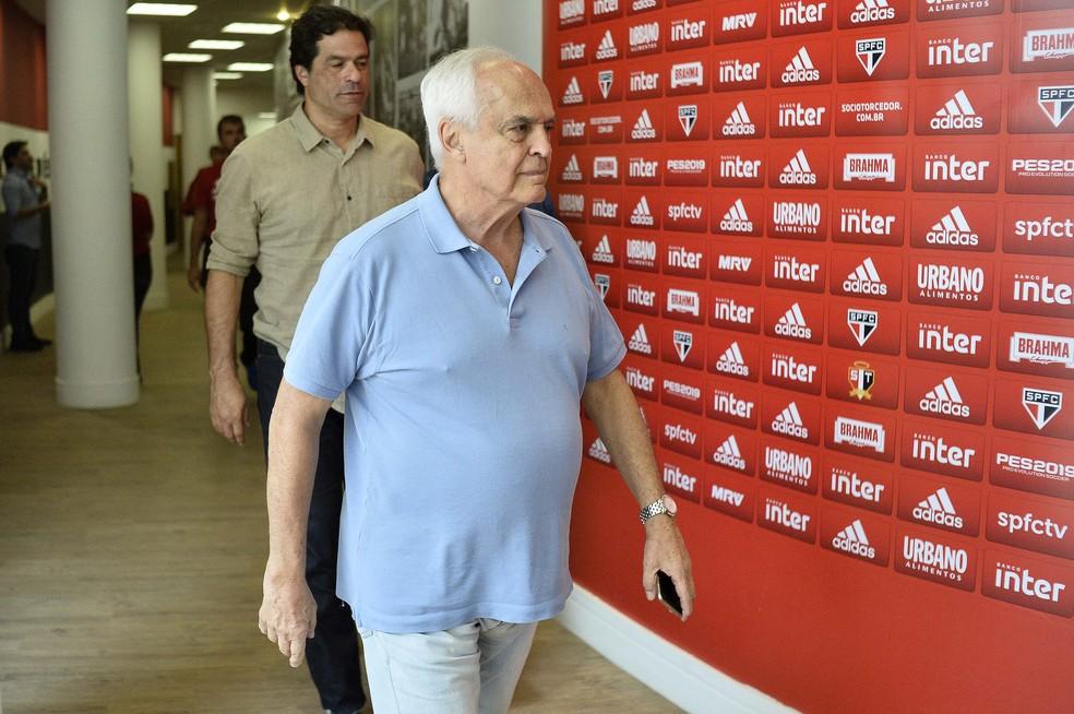 Leco e Raí: presidente banca executivo de futebol no São Paulo — Foto: Marcos Riboli