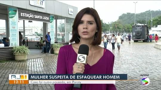 Mulher é presa após esfaquear companheiro em Paraty