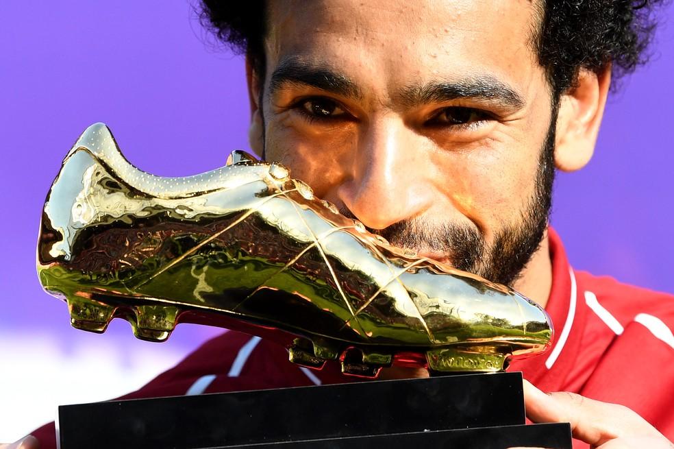 Salah beija a Chuteira de Ouro da Premier League: pela primeira vez alguém marcou 32 gols com 38 rodadas (Foto: Getty Images)