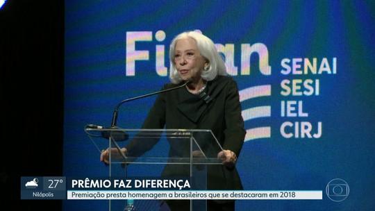 Prêmio Faz Diferença presta homenagem a brasileiros que se destacaram em 2018