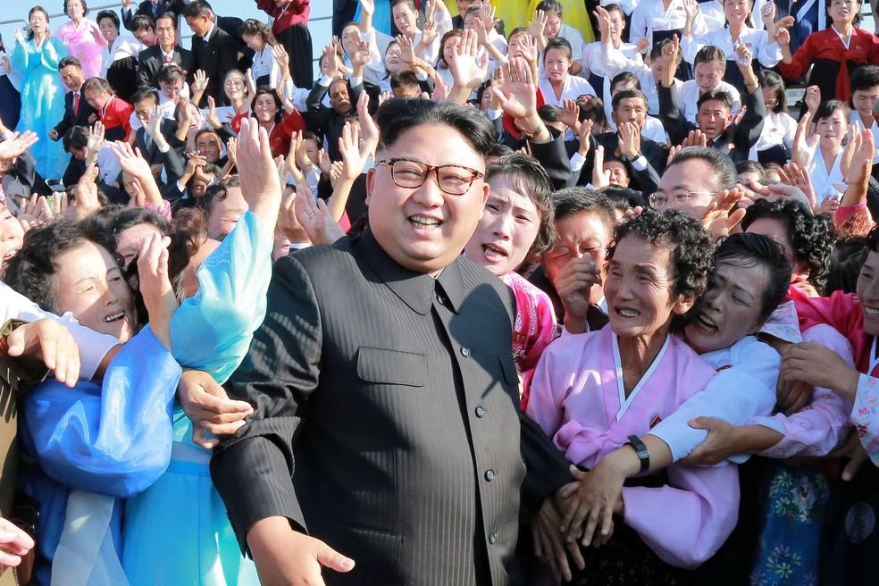Kim Jong-Un, líder da Coreia do Norte, em imagem de arquivo (Foto: Reuters/KCNA)