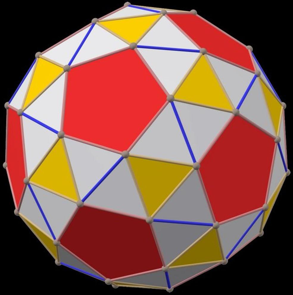 Um dodecaedro snub — Foto: WATCHDUCK via BBC