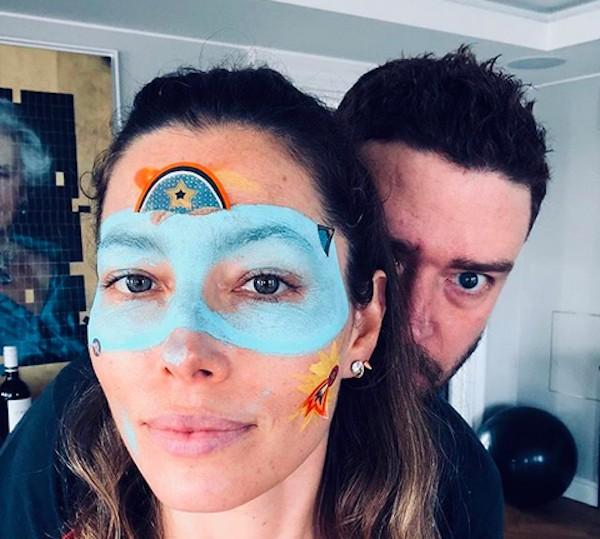 A atriz Jessica Biel e o músico e ator Justin Timberlake (Foto: Instagram)