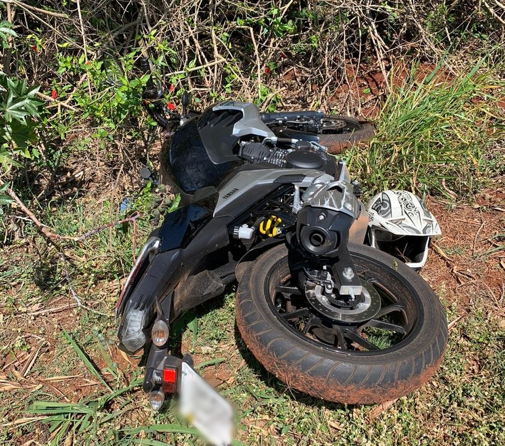 Polícia localiza moto usada por criminosos na fuga após ataque a bancos em Botucatu — Foto: Polícia Civil/Divulgação