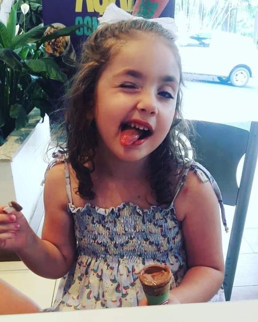 Alice, de Areiópolis, foi diagnosticada com leucemia em maio do ano passado — Foto: Arquivo pessoal/Jéssica Lopes Sartorelli