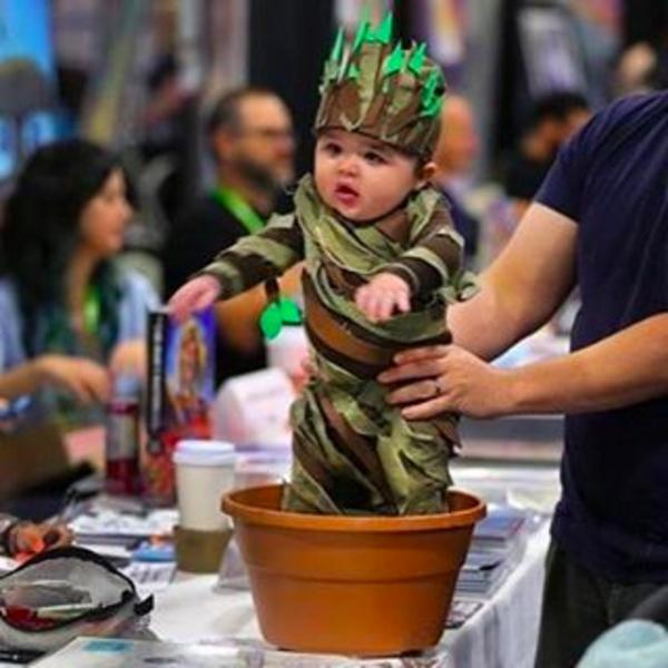 O cosplay do Baby Groot de 'Guardiões da Galáxia' (Foto: Instagram)