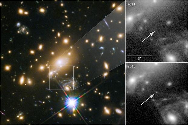 A estrela foi apelidada de Icarus pelos cientistas (Foto: Nasa)